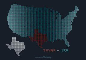 Free USA Texas Dotted Vector Map