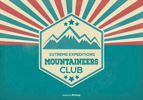 Mountaineer Explorer Retro Ilustración