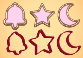 Cookie Cutter Vector Set B