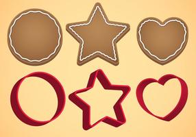 Cookie cutter vektor set a