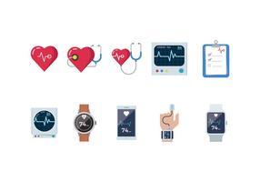 Vetores grátis do monitor cardíaco
