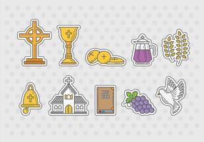 Vetores de ícones da Eucaristia