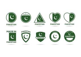 Gratis Pakistan Label Vector