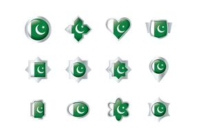 Free Pakistan Flag Badge Vectors
