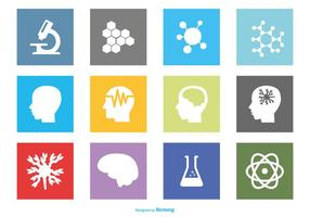 Neuroscience icon set