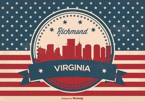 Richmond Virginia Retro Skyline Illustration
