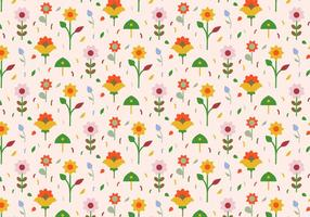 Pastel Flowers Pattern Background vector