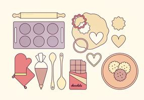 Baking Elements Vector Set