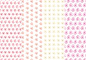 Cute Flower Vector Pattern Set