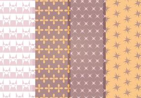 Vector Decorative Star Pattern Set