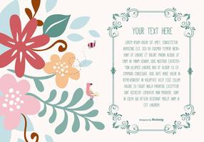Cute Floral Text Template