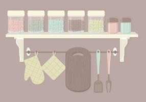 Cute Kitchen Elements Vector Set