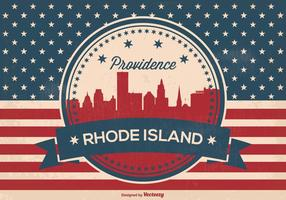Providence Rhode Island Retro Illustration