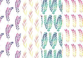 Regenbogen-Zweig-Vektor-Muster-Set