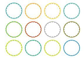 Vector hula hoop