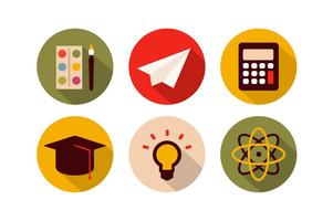 Gratis school iconen vector