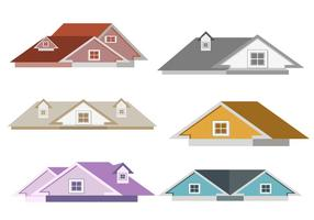 Isolated Rooftops Vector