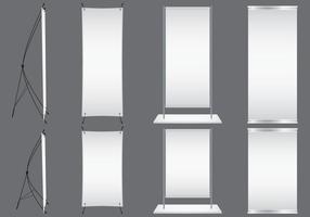 Blank Kakemonos vector