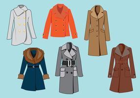 Elegante abrigo de invierno vector