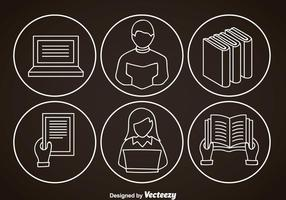 Ereader Outline Icons vector