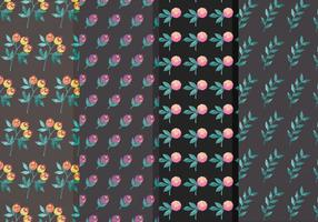 Ensemble Moody Flower Vector Pattern
