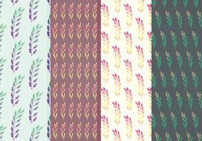 Conjunto de padrões de vetores de ramos coloridos