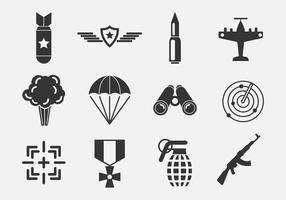 Freie Weltkrieg Vektor-Icons