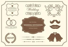 Vetores de ornamento de casamento grátis