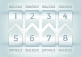 Pontos de bala infographics elements vector 2