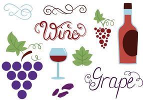 Vetores de uvas grátis