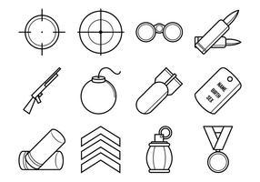 Pacchetto di icone vettoriali gratis di guerra mondiale