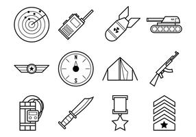 World War Icon Vector Pack