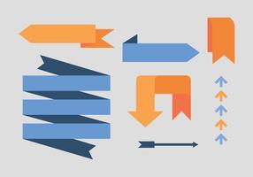 Pilvektorer - Set de Flechas Azules och Naranjas
