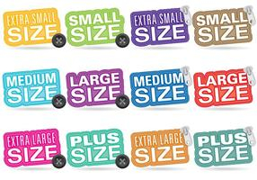 Clothes Size Titles vector