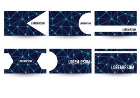 Neuron Theme Business Card Template Set vector