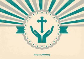 Fundo retro de estilo religioso