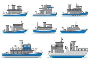 Set Van Sleepboot Vector
