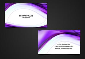 Free Vector Wavy Visiting Card Background