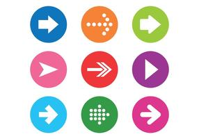 Set di icone vettoriali Flechas