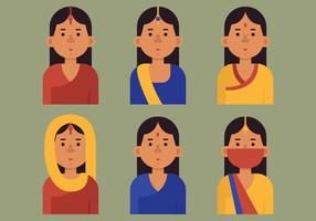 Vektor indisk kvinna