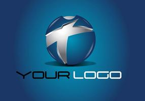 Blue Tech Logo Design Vektor