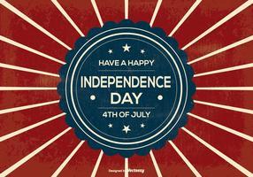 Ilustración retro del Día de la Independencia