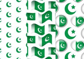 Pakistan Flag Pattern Set