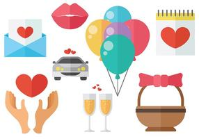 Kostenlose Casamento Icons Vektor