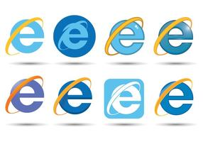 Vetor do Internet Explorer