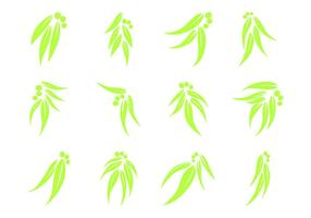 Kostenlose Eukalyptus Blatt Logo Vektor