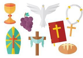Vector de ícones da Eucaristia grátis