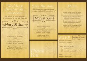 Gold Wedding Templates vector