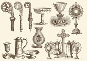 Eucharist And Liturgical Items vector