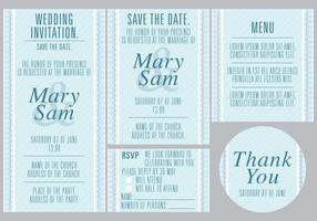 Blue Wedding Templates vector